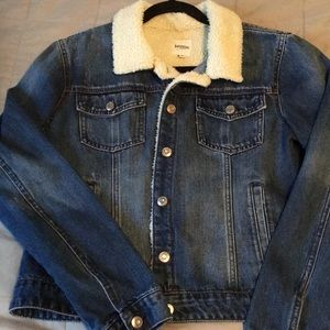 Kensie Jeans jean-jacket with sherpa collar